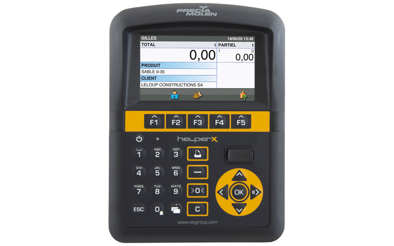 Helper X : On board weighing system